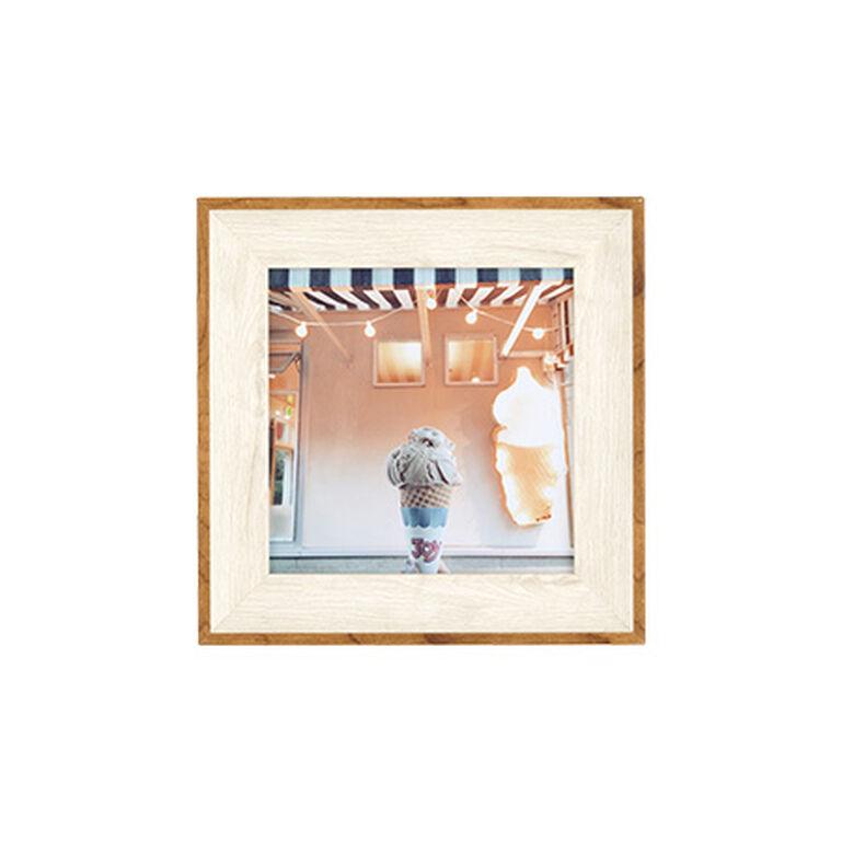 ナチュラルトーンフレーム ホワイト ましかく(127×127mm)