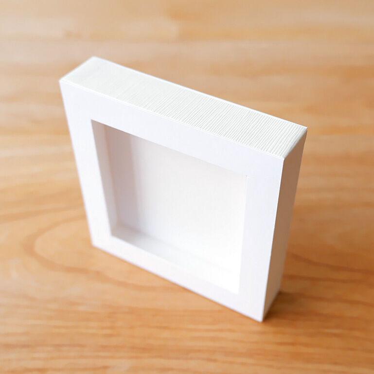 ShacollaBox(シャコラボックス) ましかくサイズ(89×89mm) ホワイト