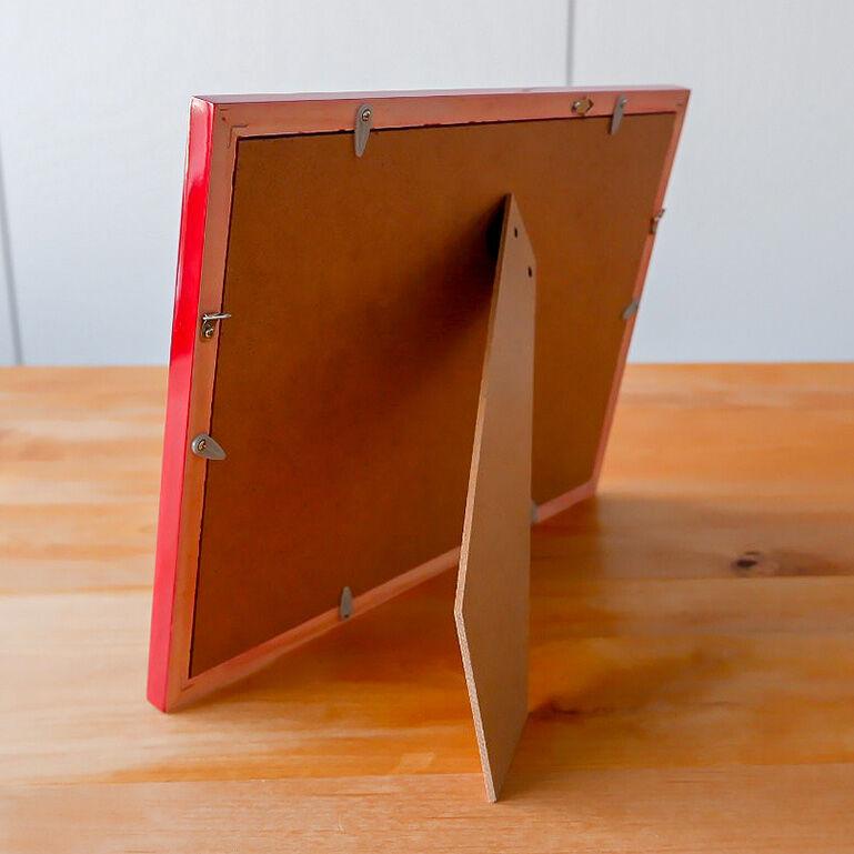 A4シャッフルプリント推奨木製フレーム(レッド)