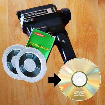 8ミリフィルムのDVDにダビングサービス