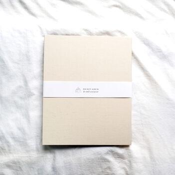ハーフサイズプリント ポケットアルバムA4 ホワイトベージュ
