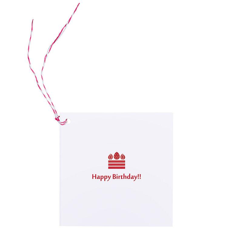 Photo Gift Tag WH Birthdayケーキ ましかくサイズ(89×89mm)用