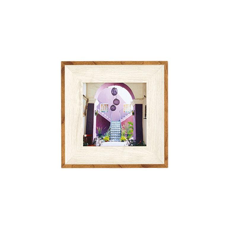 ナチュラルトーンフレーム ホワイト ましかく(89×89mm)