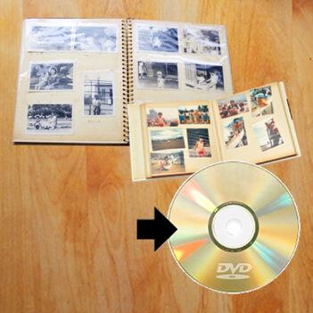 写真アルバムのDVDにスキャンサービス