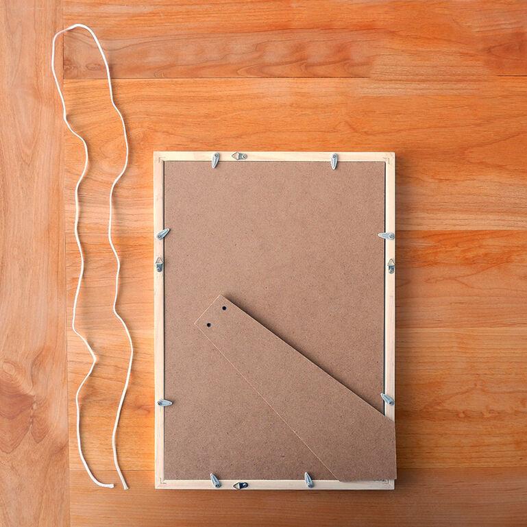 4切ワイドシャッフルプリント推奨木製フレーム(ホワイト)