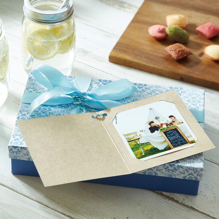 Photo Gift Tag KF Birthdayブーケ ましかくサイズ(89×89mm)用