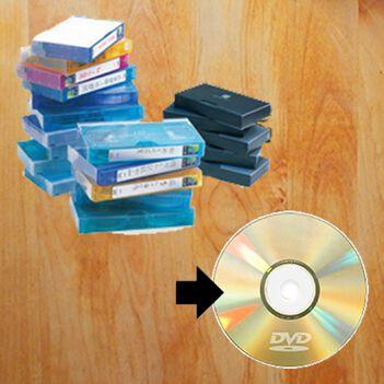 ビデオテープのDVDにダビングサービス(VHS/VHS-C/miniDV/8mmビデオ)