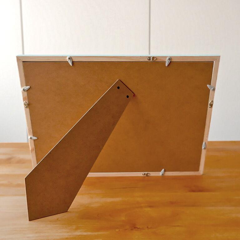 4切ワイドシャッフルプリント推奨木製フレーム(アクアブルー)