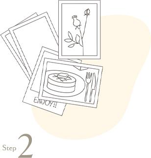 step2スマホからハーフサイズプリントをかんたん注文