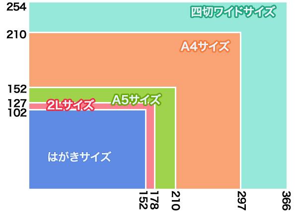 サイズ比較:単位/mm